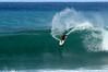 Surfer on a 15 foot wave - Hawaii's north shore